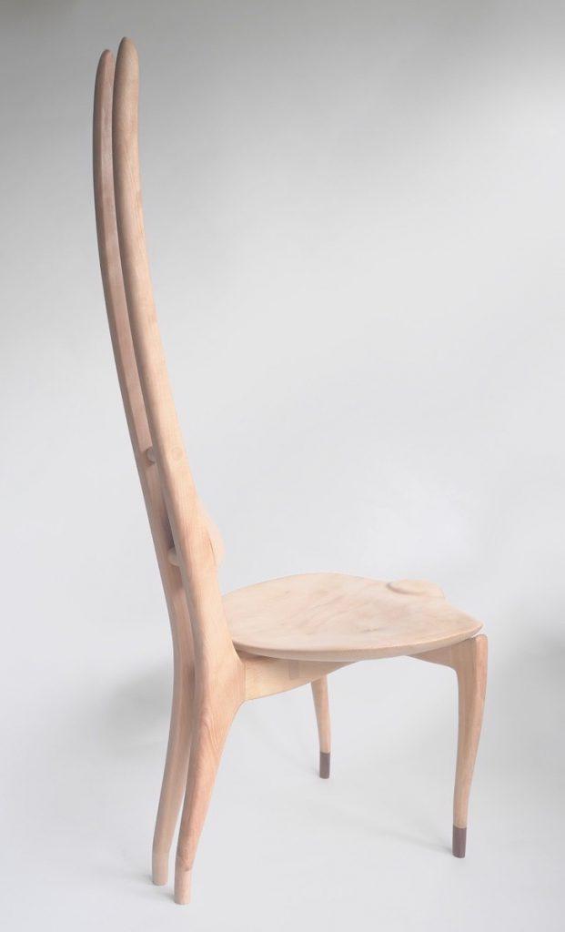 HELIX 瞑想椅子 素材:白栃